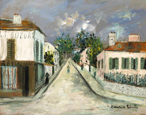 Maurice Utrillo (1883-1955) Rue de village