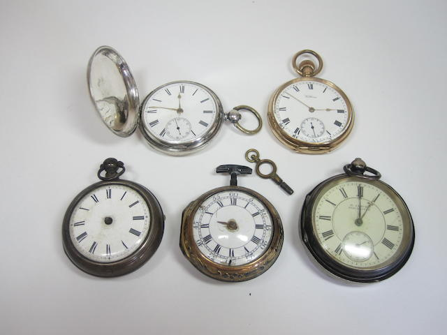 A mid 18th century repoussé pair cased verge pocket watch, by James White, London (5)