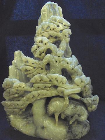A large soapstone carving