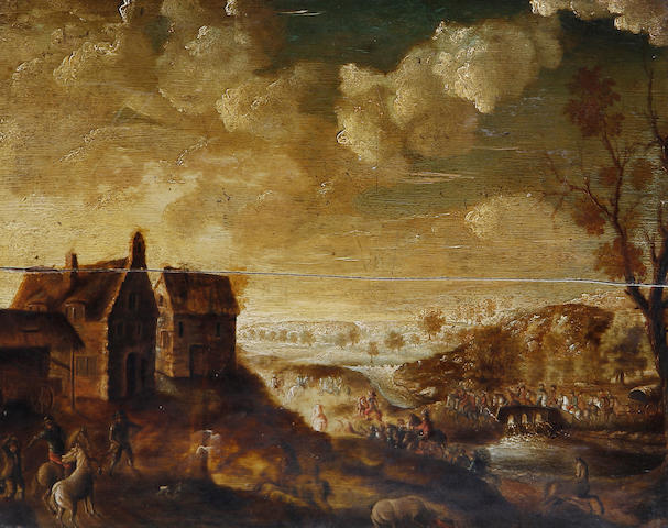 Flemish School, 18th Century   Battle scene