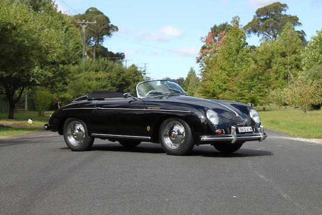 Australian delivered, fully restored,1957 Porsche 356A Speedster  Chassis no. 84202 Engine no. 81453