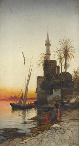 Hermann David Salomon Corrodi (Italian, 1844-1905) On the banks of the Nile