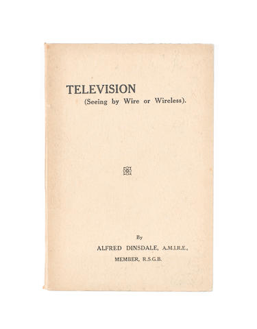 Dinsdale, A. - Television (Seeing by Wire or Wireless), owned by H. G. Henderson, signed by John Logie Baird,