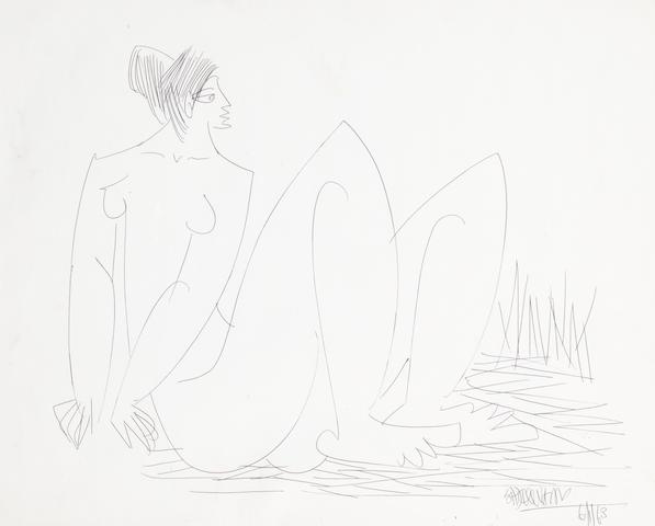 Sadequain (Pakistan, 1937-1987) Untitled,