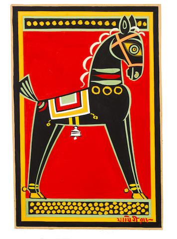 Jamini Roy (India, 1887-1972) Horse,
