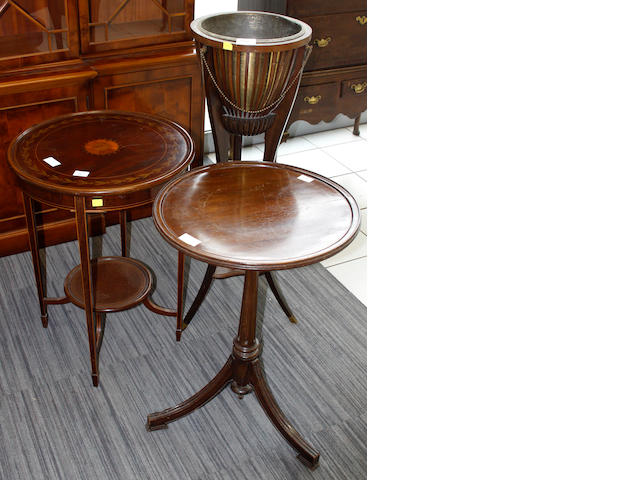 An Edwardian circular occasional table