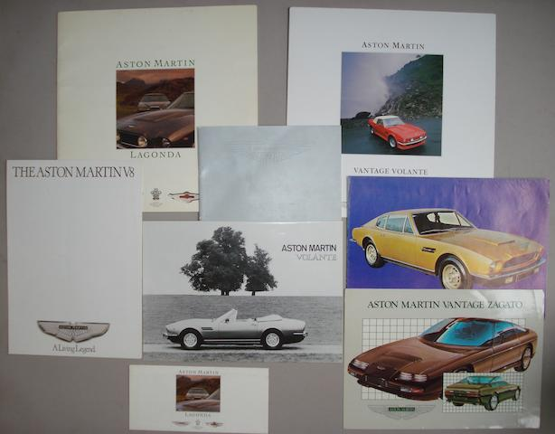 A lot of Aston Martin sales literature,
