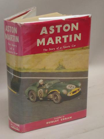 A signed copy of Coram: Aston Martin The Story of a Sports Car;