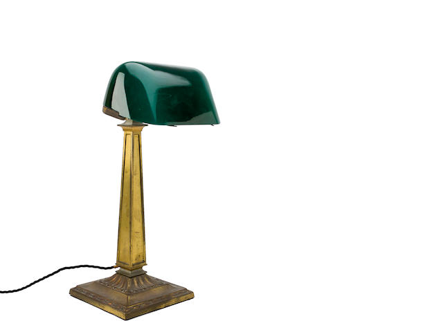A mid 20th century brass plated desk light