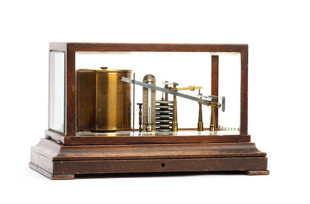 An early 20th Century oak-cased barograph Negretti & Zambra, London