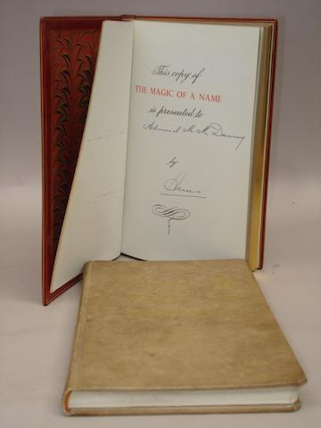 A Leather bound copy of Harold Nockolds: The Magic of a Name;