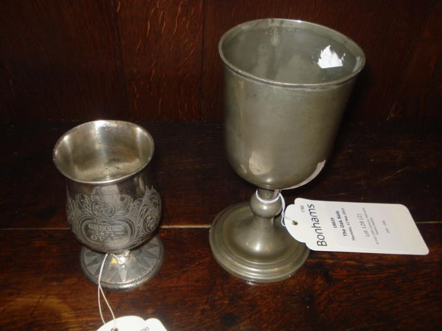 A mid 19th Century half-pint footed beaker