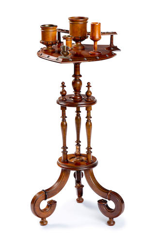 A stained beech cigar stand