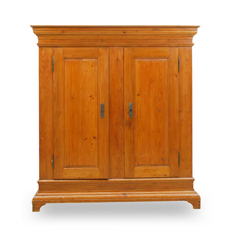 An 18th century German pine armoire