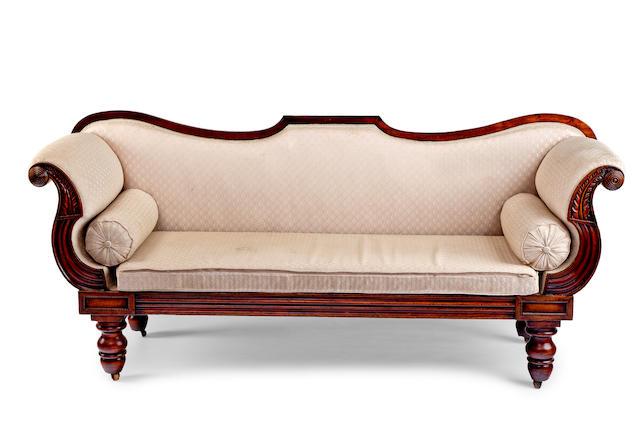 An Australian cedar sofa