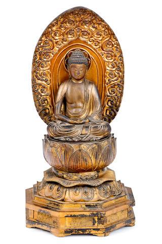 Japanese Buddha Sakyamuni Edo period