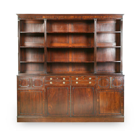 A Regency mahogany open bookcase