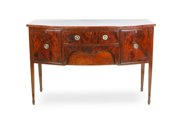 A Victorian mahogany bow-front sideboard