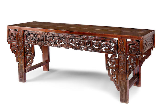 A large Chinese altar tablemid 19th century