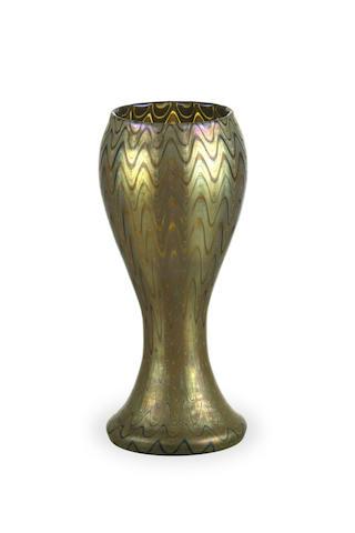 A Loetz waisted vase
