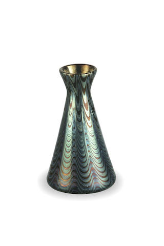 Loetz conical posy vase