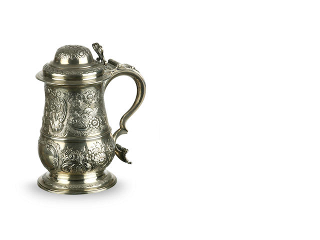 A George III  silver lidded tankard William Gould London, 1767