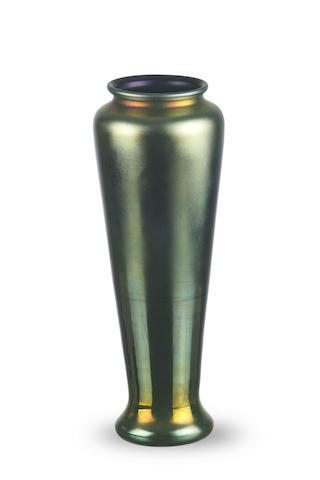 An Ourene Favrile glass vase