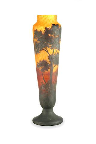 A Daum Nancy landscape vase circa 1910