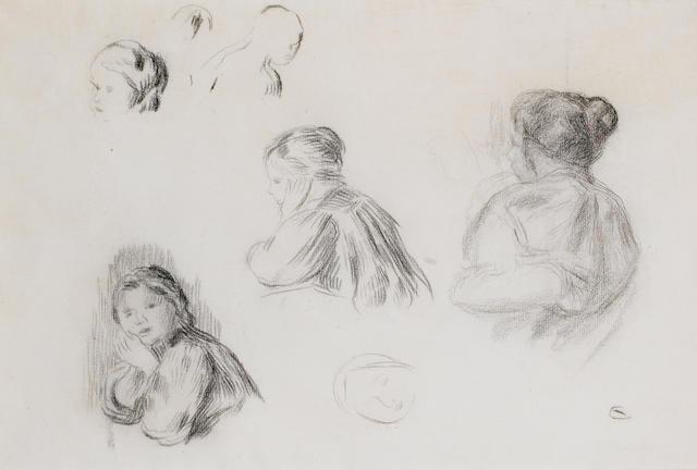 Pierre-Auguste Renoir (1841-1919) Etudes de jeunes filles