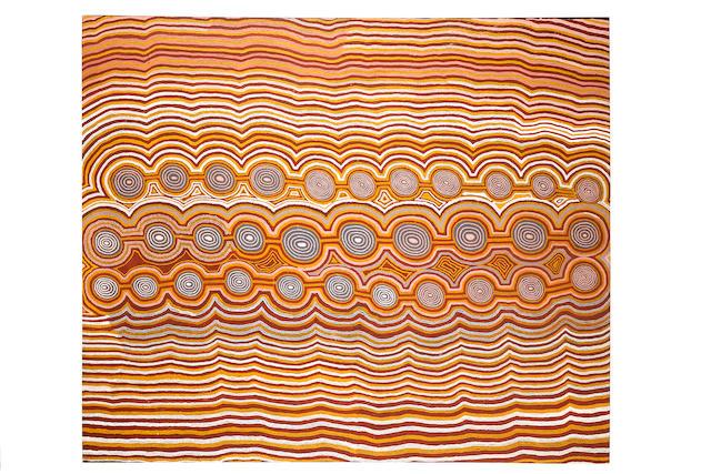 Willy Tjungurrayi (born circa 1936) Designs Associated with the Tingari Men at Kulkutta