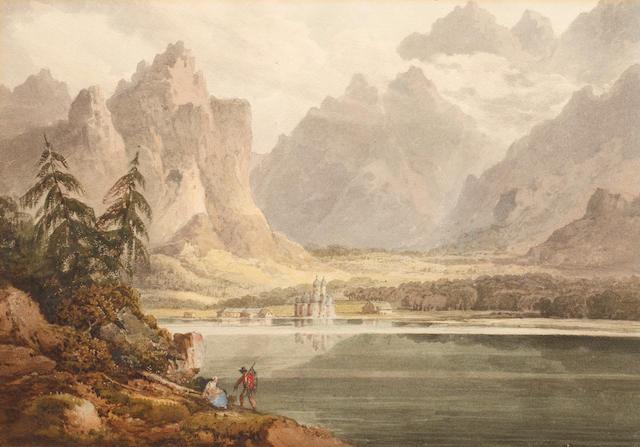 Francis Nicholson (British, 1753-1844) Königsee and Berchtesgaden