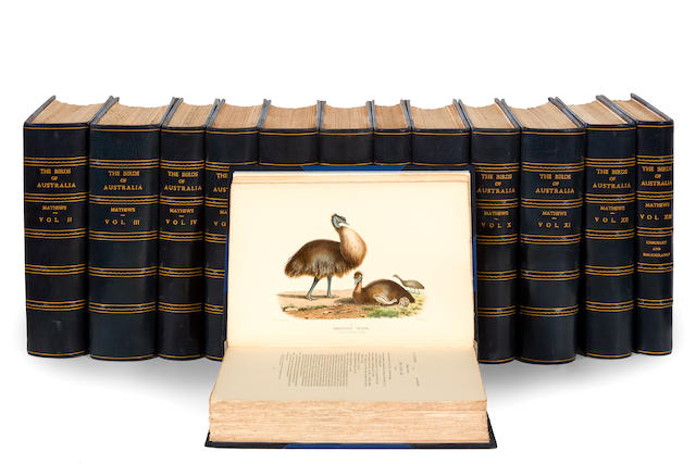 Mathews, Gregory M. The Birds of Australia [and] Check List of the Birds of Australia (in three parts) [bound with] Bibliography of the Birds of Australia