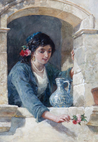 Frank William Warwick Topham (British, 1838-1924) A Spanish beauty