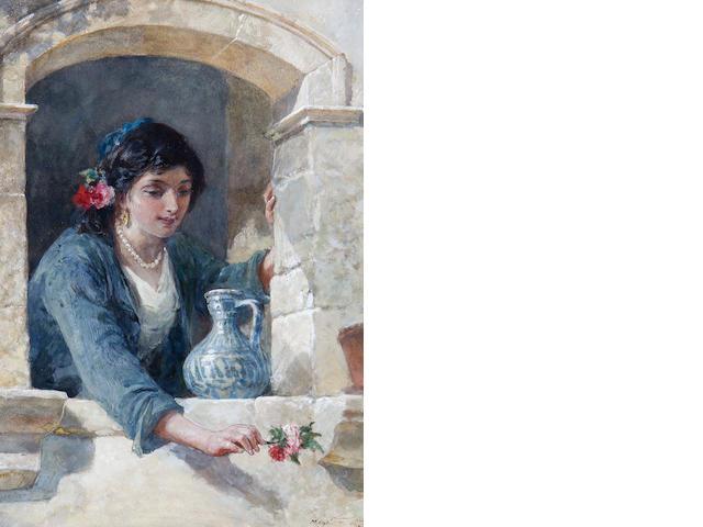 Frank William Warwick Topham (British, 1838-1924) A Spanish beauty