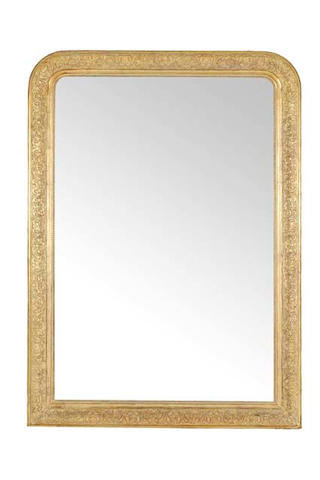 A mid 19th century French gilt wall mirror French, circa 1860