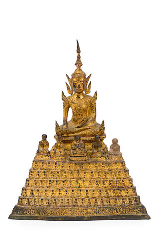 A 19th centuryThai (Bangkok) gilded bronze Buddha