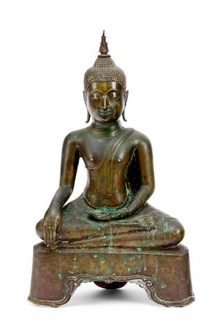 A Sukothai bronze Buddha Shakyamuni 18th century