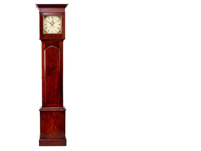 An Australian cedar longcase clock