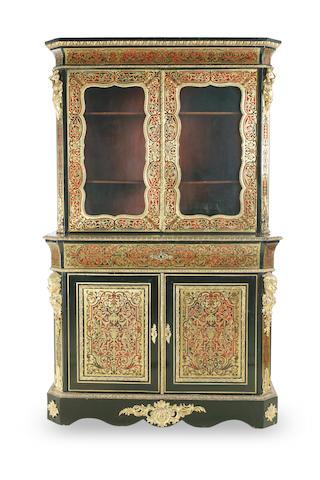 A Napoleon III boulle secretaire bookcase