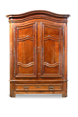 A large Louis XIV period walnut armoire 18th century