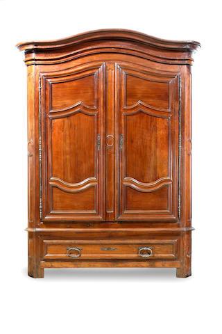 An 18th century Louis XIV period walnut armoire