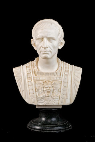 An late 19th century Italian life size marble bust of Julius Caesar