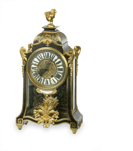 A French 19th century Boulle mantel clock