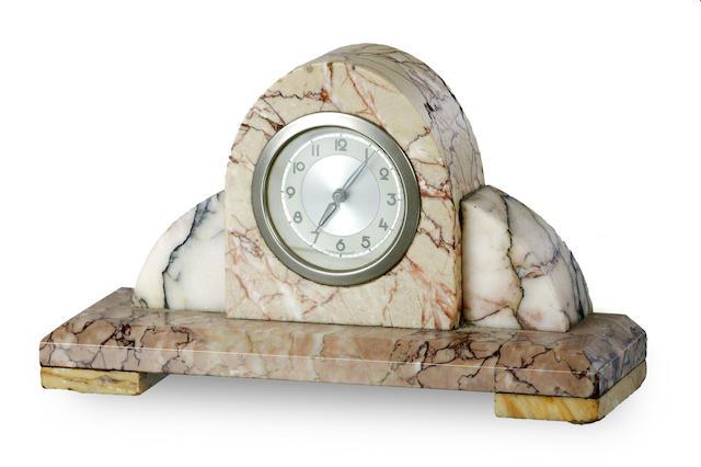 A German Art Deco marble clock