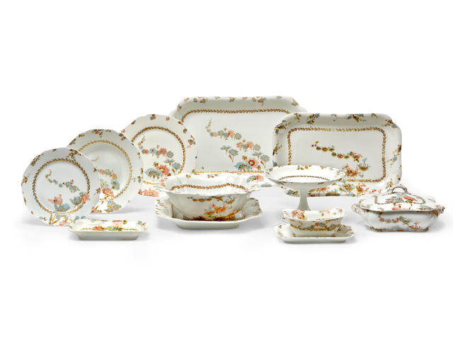 A Haviland & Co Limoges dinner service for eight