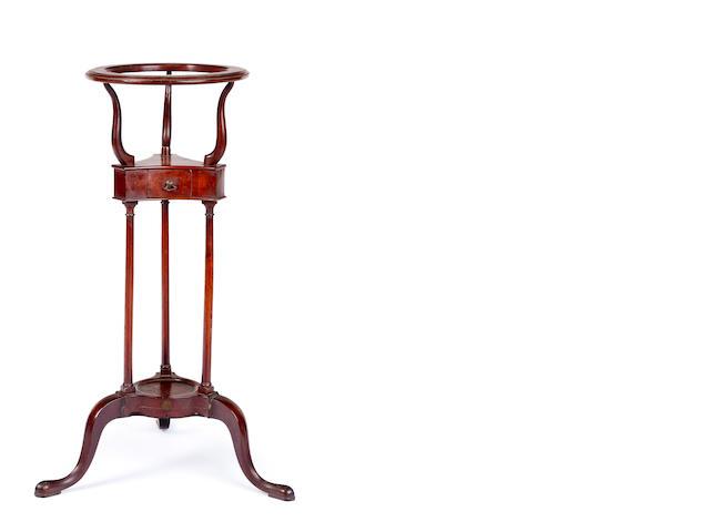 A George III mahogany shaving stand