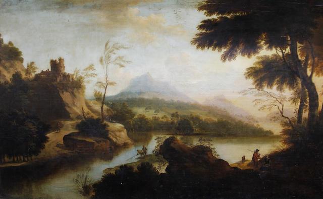 Circle of George Barrett (Dublin circa 1728-1784 Paddington) A capriccio with the Eagle's nest on the horizon