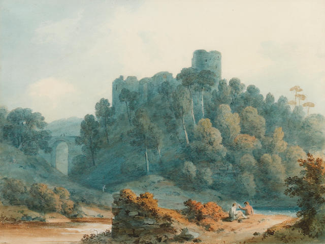 Hugh William Williams (British, 1773-1829) Rosslyn Castle from the North