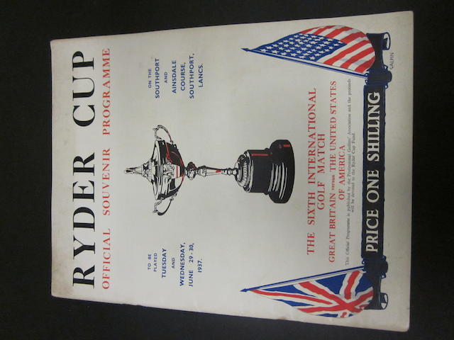 A 1937 Ryder Cup programme (Southport and Ainsdale)
