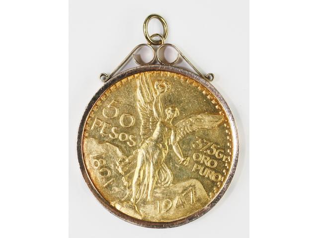 Mexico: a 50 pesos coin,